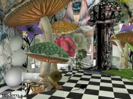 ... Alice In Wonderland Garden. `